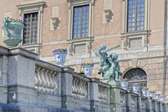 Stockholm Palace details Royalty Free Stock Images