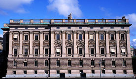 Stockholm Palace in Sweden. Stockholm Palace, strong structure and lines with guard Stock Images