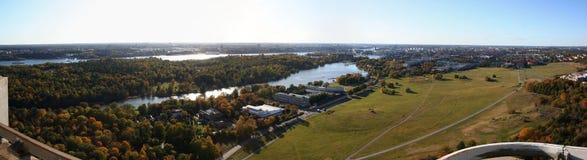 Stockholm panorama stock photos