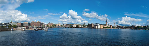 Stockholm-Panorama Lizenzfreies Stockbild