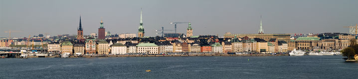 Stockholm Panorama. A panorama view of the Gamla Stan of Stockholm, Sweden Stock Photos