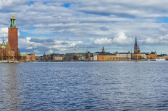 Stockholm panorama old Town Stock Photography