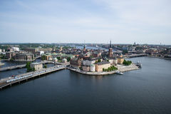 Stockholm panorama view. Stockholm panorama from City Hall royalty free stock photo
