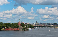 Stockholm panoramic view. Royalty Free Stock Photo