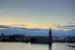 Stockholm panoramic view. Stockholm(Sweden Capital city) in sunset Royalty Free Stock Images