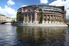 Stockholm parliament stock photography