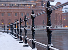 Stockholm parliament building in winter Royalty Free Stock Photos