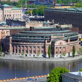 Stockholm Parliament Royalty Free Stock Image