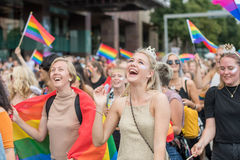 Stockholm Pride Parade 2016 Royalty Free Stock Photos