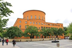 Stockholm Public Library. Is located at the junction of Sveavägen and Odengatan in Vasastaden. The library was inaugurated on March 31, 1928 Royalty Free Stock Image