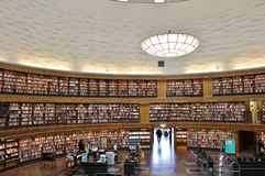 Stockholm Public Library Royalty Free Stock Photo
