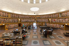 Stockholm Public Library. (Stockholms stadsbibliotek, Stockholm, Sweden). Probably, this is the one of the city's most notable structures and architectures Royalty Free Stock Images