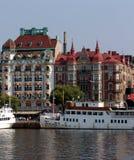 Stockholm quays Obrazy Stock