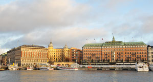 Stockholm quays Royalty Free Stock Images