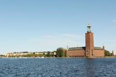 Stockholm-Rathaus stockbilder