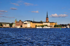 Stockholm, Riddarholmen. Stockholm. The Island Riddarholmen In The Evening Royalty Free Stock Images