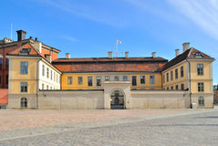 Stockholm,  Riddarholmen. Stockholm. The architecture of the island Riddarholmen. Old buildings in the Birger Jarl square Royalty Free Stock Image