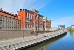 Stockholm. Riddarholmen Inseldamm lizenzfreie stockfotografie