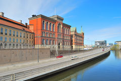 Stockholm.  Riddarholmen  Island  embankment Royalty Free Stock Photography