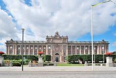 Stockholm, Riksdag royalty-vrije stock afbeeldingen
