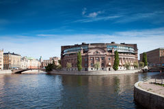 Stockholm Riksdag Royalty Free Stock Photography