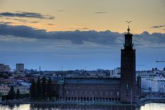 Stockholm royal palace. Stockholm(Sweden Capital city) in sunset Royalty Free Stock Image