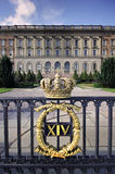 Stockholm royal palace gate with crown Stock Photo