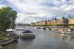 Stockholm's cityscape Stock Images