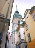 Stockholm's Old Town. Architecture of Stockholm, capital of Sweden royalty free stock photo