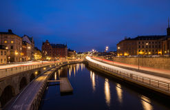 Stockholm's Old Town at Twilight Stock Image