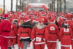 Stockholm Santa Run 2016 Lizenzfreie Stockfotografie