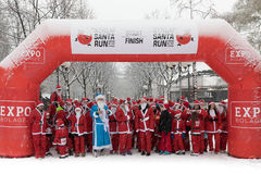 Stockholm Santa Run 2016 Stock Photography
