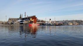 Stockholm-Schiffe und -museum lizenzfreie stockfotos