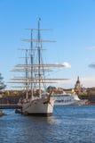 Stockholm, Schweden - 30. April 2011: Segelschiff Lizenzfreies Stockfoto