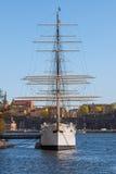 Stockholm, Schweden - 30. April 2011: Segelschiff Lizenzfreie Stockfotografie