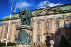 STOCKHOLM, SCHWEDEN - 19. AUGUST 2016: Ansicht über Statue von Gustavo E Stockfotografie