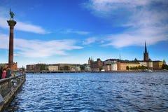 STOCKHOLM, SCHWEDEN - 20. AUGUST 2016: Touristen Weg und Besuch Sto Stockfotografie