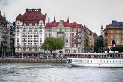 STOCKHOLM, SCHWEDEN - 20. AUGUST 2016: Weg und Besuch vieler Leute Lizenzfreies Stockbild