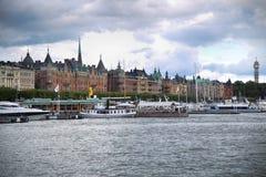 STOCKHOLM, SCHWEDEN - 20. AUGUST 2016: Weg und Besuch vieler Leute Lizenzfreie Stockbilder