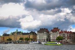 STOCKHOLM, SCHWEDEN - 20. AUGUST 2016: Weg und Besuch vieler Leute Stockfotografie