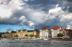 STOCKHOLM, SCHWEDEN - 20. AUGUST 2016: Weg und Besuch vieler Leute Lizenzfreies Stockfoto