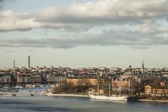 Stockholm, Schweden/bewölkte Himmel Stockbild