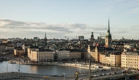 Stockholm, Schweden/blaue Himmel und Gamla Stan Stockfoto