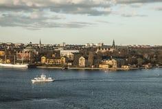 Stockholm, Schweden/blaues Wasser Lizenzfreies Stockbild