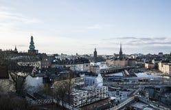 Stockholm, Schweden, Dämmerung bei Gamla Stan Lizenzfreie Stockbilder
