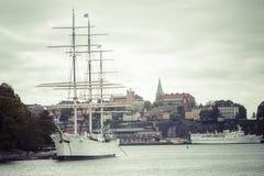STOCKHOLM SCHWEDEN am 21. Mai 2016: Der Schiff af-ambulante Händler in Stockholm S Lizenzfreies Stockfoto