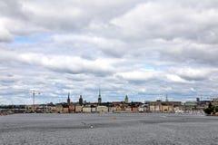 Stockholm, Schweden-Stadtbild vom Hafen stockfoto