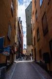 Stockholm, Schweden, Touristen in der alten Stadt lizenzfreie stockfotografie