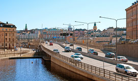 stockholm schweden Zentrale Brücke Lizenzfreies Stockfoto