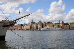 Stockholm with the ship Royalty Free Stock Images